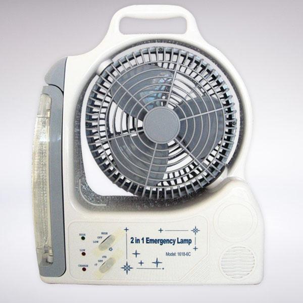 Quạt tích điện đa năng 2 trong 1 Emergency
