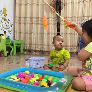 Bể phao câu cá loại 2 cần câu cho bé