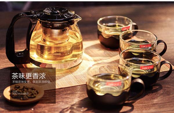 Bán buôn bộ ấm pha trà thủy tinh có lưới lọc