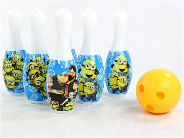 Bán buôn bộ đồ chơi bowling minions cho bé