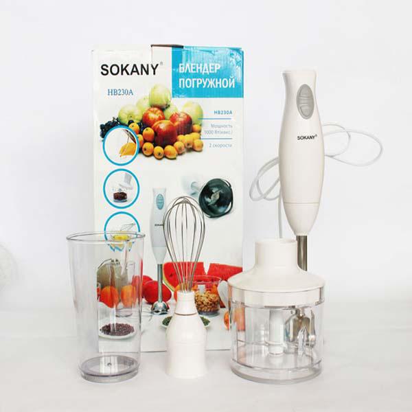 Bộ máy xay máy đành trứng đa năng Sokany HB-230A