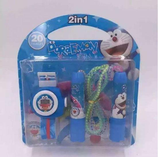 Combo đồng hồ và dây nhảy thể dục cho bé