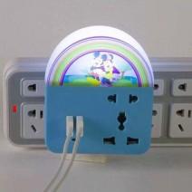 Đèn ngủ cảm ứng kiêm ổ điện đa năng