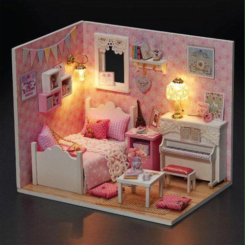 Bán buôn mô hình nhà gỗ diy đáng yêu cho bé