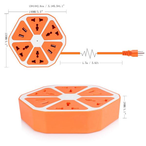 Bán sỉ ổ cắm điện usb đa năng hình miếng cam