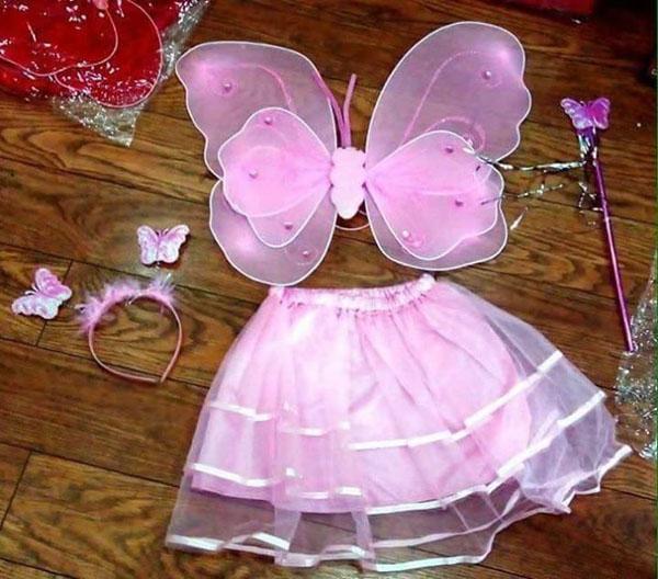 set áo cánh bướm thiên thần cho bé