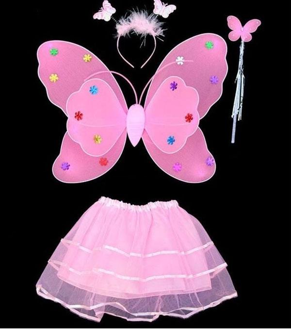Bán sỉ set áo cánh bướm thiên thần cho bé