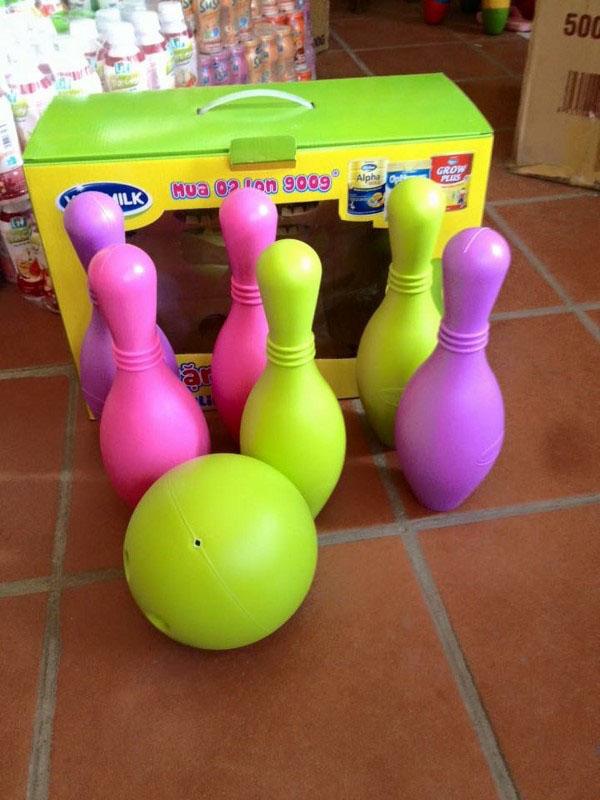 Bộ bowling nhựa 7 món vinamilk