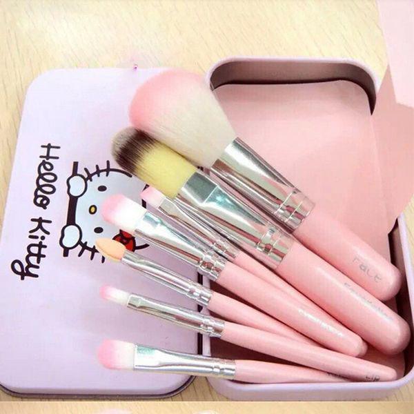 Bán buôn bộ cọ trang điểm cá nhân 7 món Hello Kitty