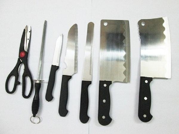 Bán buôn bộ dao kéo hợp kim inox 7 món