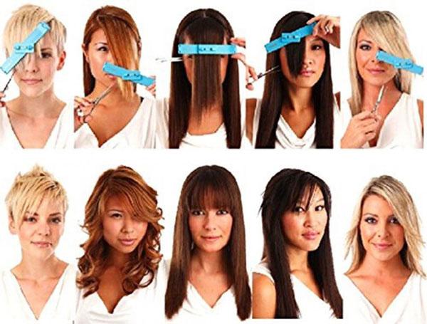 Bộ dụng cụ cắt tóc mái và sau Creaclip
