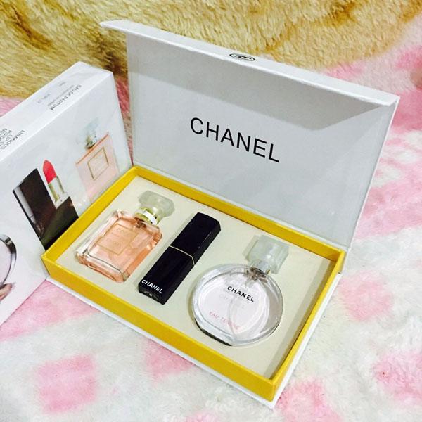 Bán sỉ bộ mỹ phẩm Chanel 3 món cao cấp