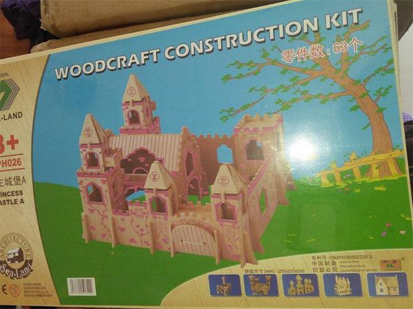 Mô hình lắp ghép gỗ 3d lâu đài 63 chi tiết