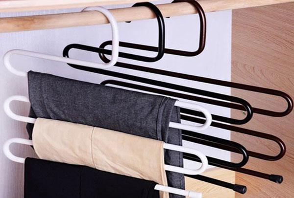 Bán sỉ móc treo quần áo 5 tầng thông minh