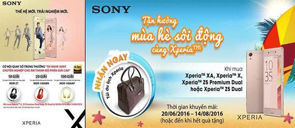 Túi da du lịch Sony