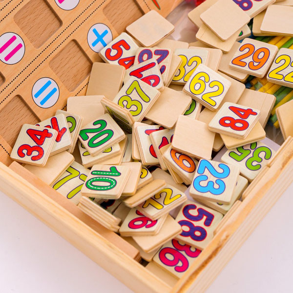 Bảng gỗ 2 mặt cho bé học toán