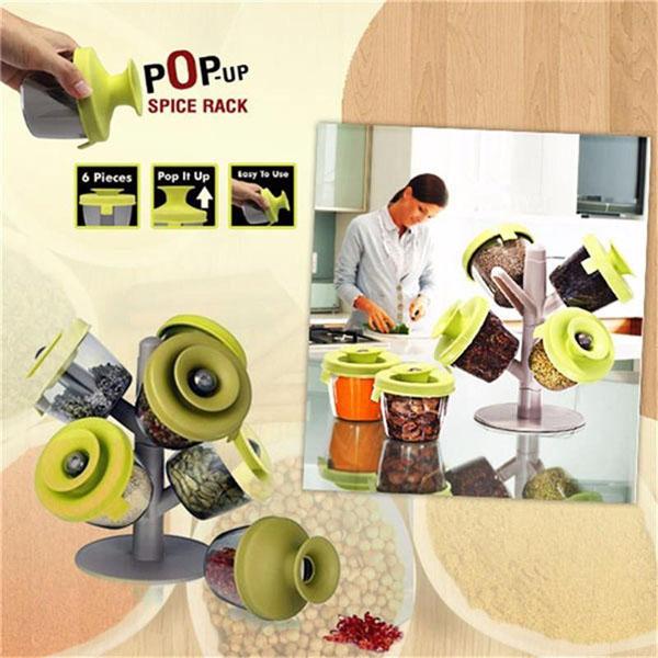 Cây treo gia vị pop-up spice rack tiện dụng