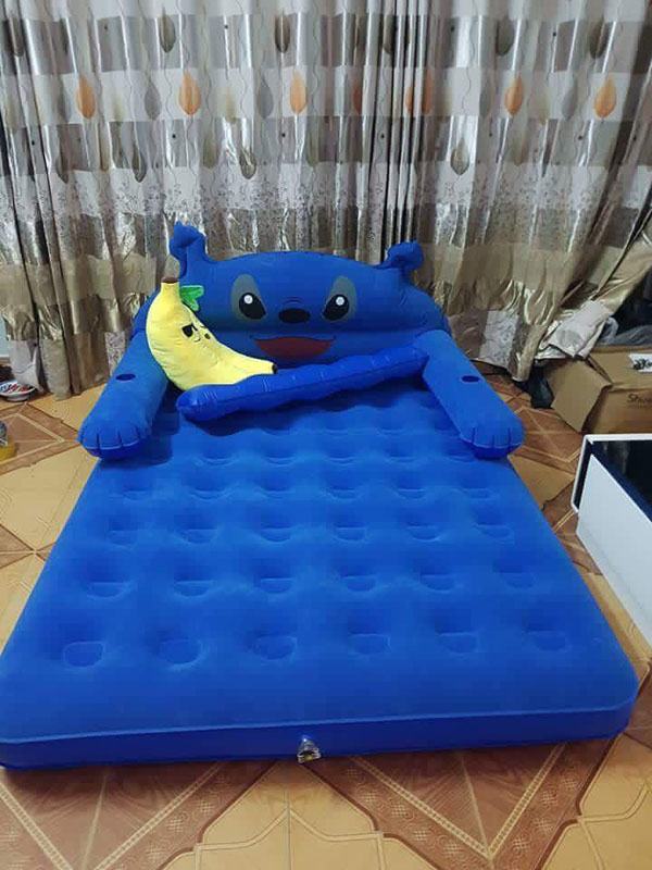 Giường hơi kute kèm bơm điện