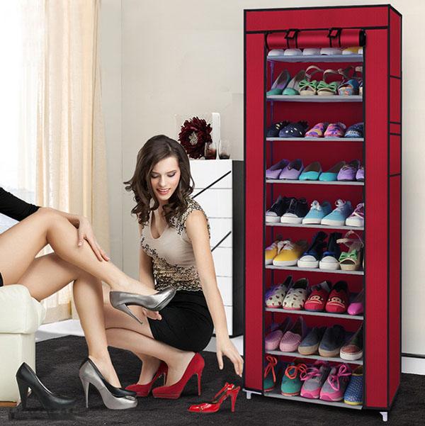 Tủ vải để giày dép 9 tầng cao cấp