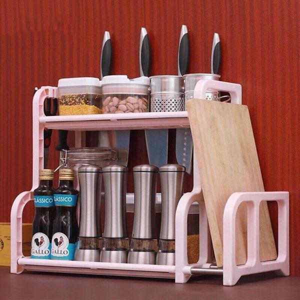 Kệ đựng đồ nhà bếp kèm khay dao thớt
