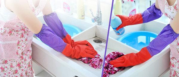 Găng tay cao su lót nỉ - Găng tay rửa bát