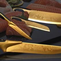 Bán buôn bộ dao 5 món sắc vàng cao cấp