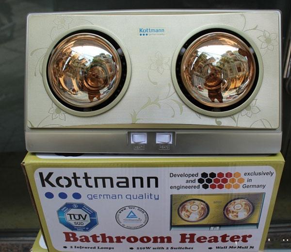 Bán sỉ đèn sưởi nhà tắm Kottmann 2 bóng