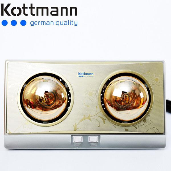 Bán buôn đèn sưởi nhà tắm Kottmann 2 bóng
