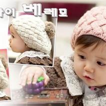 Mũ nồi len dễ thương cho bé gái