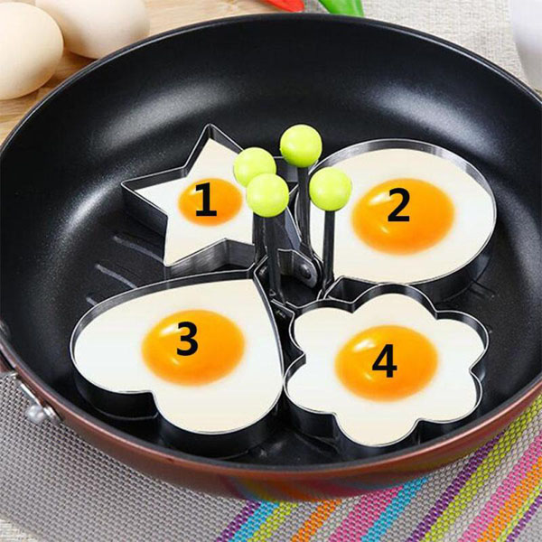 Bán sỉ bộ 4 khuôn chiên trứng làm bánh tạo hình