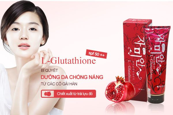 Kem dưỡng thể chống nắng L-Glutathione Moist Whitening