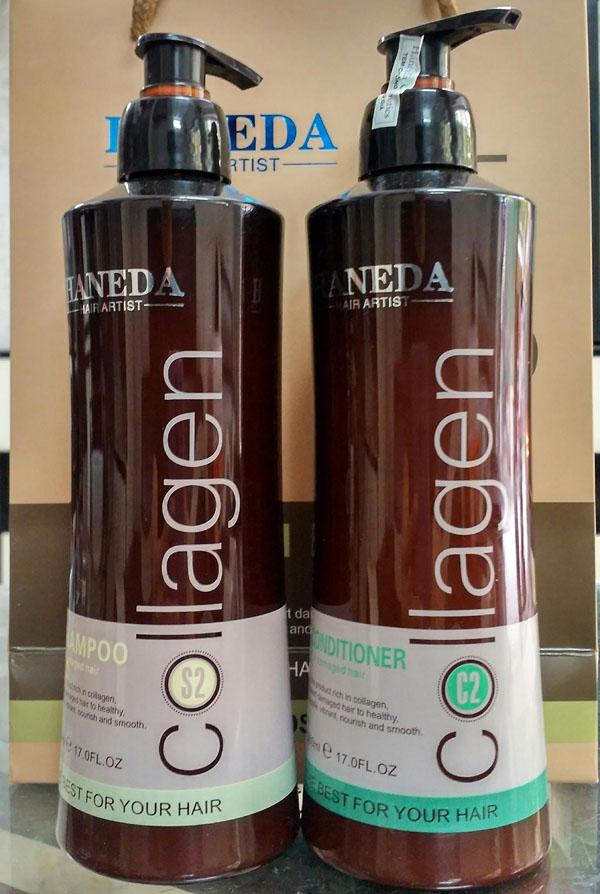 Bán sỉ cặp dầu gội và xả Haneda Collagen