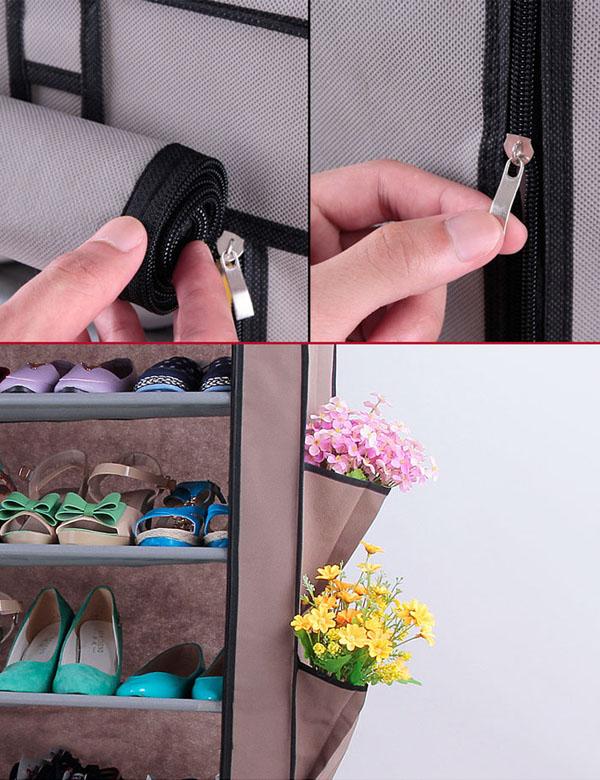 Bán buôn tủ vải để giày 6 tầng trơn tiện dụng
