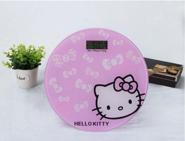 Cân điện tử sức khỏe tròn hello kitty
