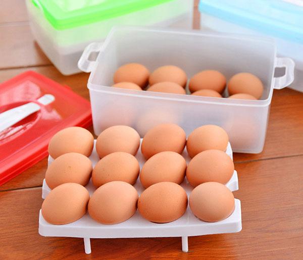 Hộp đựng trứng 2 tầng 24 quả tiện dụng