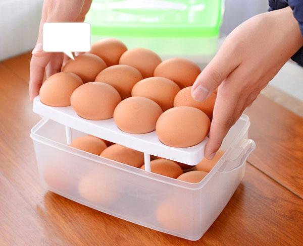 Bán buôn hộp đựng trứng 2 tầng 24 quả