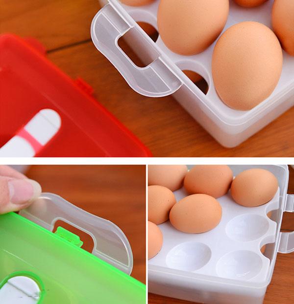 Bán sỉ hộp đựng trứng 2 tầng 24 quả
