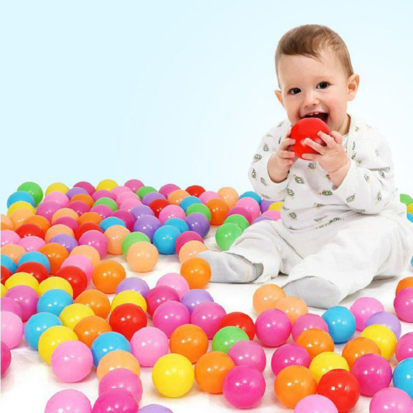 Túi 100 quả bóng nhựa cho bé - Bán buôn siêu rẻ