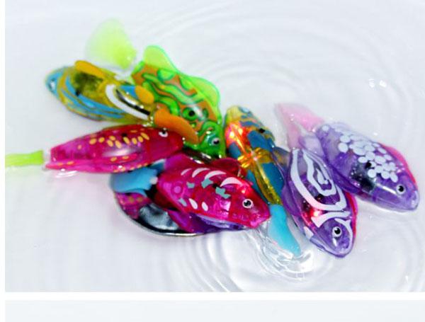 Bán sỉ cá cảnh chạy pin có đèn led Robo Fish