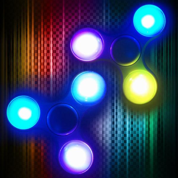Con quay Spinner có đèn led phát sáng