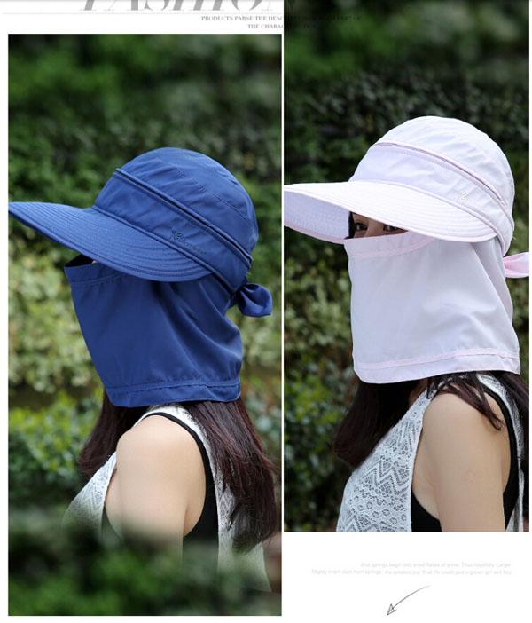 Mũ chống nắng kèm khẩu trang 3 in 1