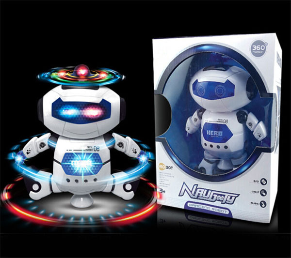 Bán buôn đồ chơi robot nhảy múa xoay 360 độ