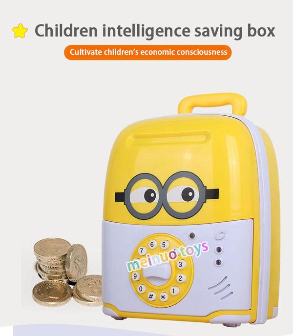 Két đựng tiền mini hình valy kéo cho bé
