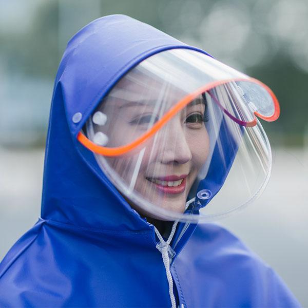 Áo mưa phản quang có kính che mặt