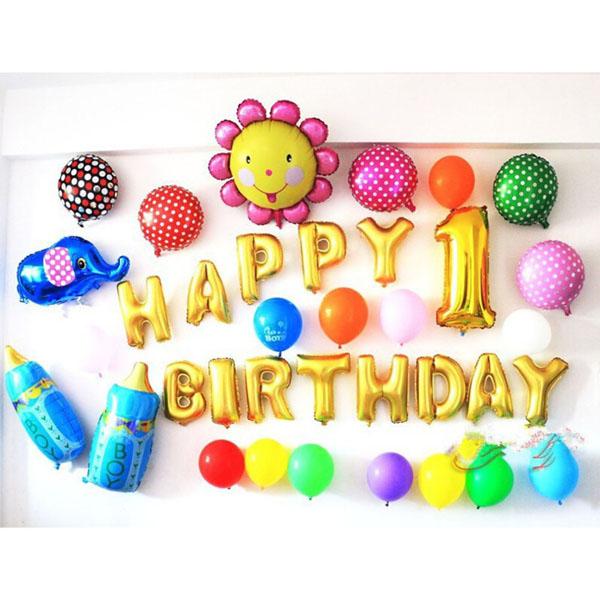 Bộ bóng bay trang trí sinh nhật Happy Birthday