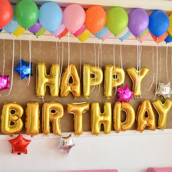 Bán sỉ bộ bóng bay trang trí sinh nhật Happy Birthday