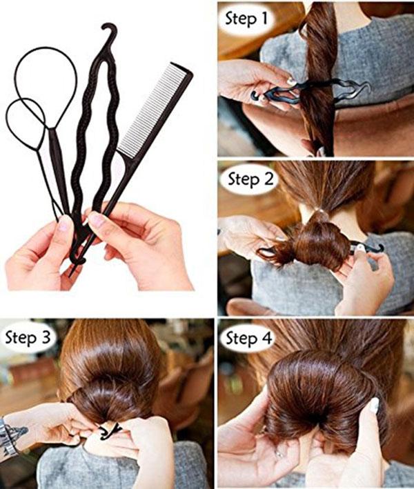 Bộ dây buộc tóc 60 chi tiết