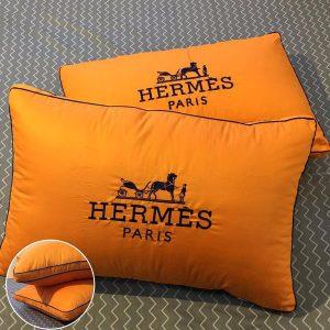 Cặp gối lông vũ Hermes Paris cao cấp