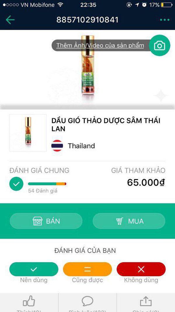 Bán sỉ dầu gió thảo dược Sâm Thái Lan
