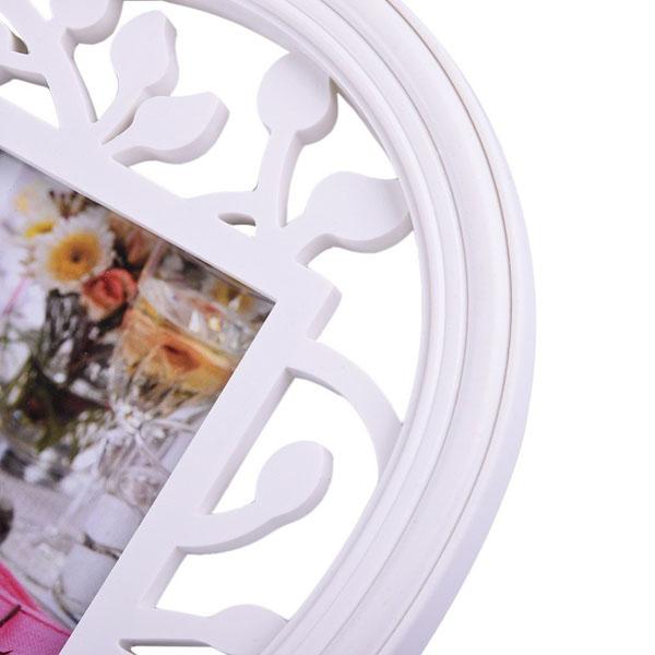 Bán sỉ khung ảnh hình trái tim màu trắng tường